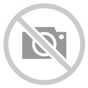 Maintenance and emergency on-off switch in light grey enclosure with red rotary knob and yellow label.